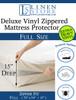 Heavy Duty PVC Vinyl Mattress Protector Cover, Hypoallergenic Waterproof Encasement, Bed Bugs - Dustmites Shield, 15 Inch Deep Pocket