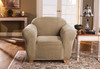 Linen Store Sicily Furniture Slipcover, 1-Piece Form Fit Soft Stretch Fabric Jacquard Couch Cover