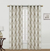 Kashi Home Scarlett 54x84 Inch Window Curtain with Grommets, Weave Fabric Decorative Damask Print Panel for Living Room, Bedroom - Single Panel