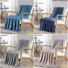 Soft Plush Contemporary Scroll Embossed DAMA Collection 50x60 Throw Blanket