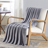 Soft Plush Contemporary Geometric Embossed Cedar Collection 50x60 Throw Blanket
