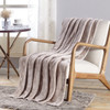 Soft Plush Contemporary Geometric Embossed Santorini Collection 50x60 Flannel Throw Blanket