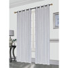 Kashi Home Gianna Pleated Jacquard 52X84 Inch Decorative Shining Elegant Lurex Window Curtain Panel with 8 Grommets, Single Panel