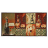 Cheese and Wine 20x40 Rectangle Kitchen Rug, Area Rug, Mat, Carpet, Non-Skid Latex Back