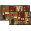 2pc Cheese and Wine Kitchen Rug Set, Area Rug, Mat, Carpet, Non-Skid Latex Back (18x30 Rectangle & 20x40)
