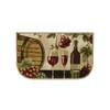 Wine Barrel 18x30 D Shape Kitchen Rug, Area Rug, Mat, Carpet, Non-Skid Latex Back