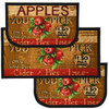 "Apple Cider 3pc Kitchen Rug Set, (2) Slice 18""x30"" Rugs, (1) 20""x40"" Mat, Non-Slid Latex Back"
