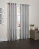 "Sherry Crushed Satin Window Curtain Panel - 52""x84"" - Silver"