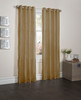 """Sherry Crushed Satin Window Curtain Panel - 52""""x84"""" - Antique Gold"""