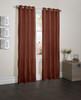 "Sherry Crushed Satin Window Curtain Panel - 52""x84"" - Terracotta"