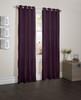 "Sherry Crushed Satin Window Curtain Panel - 52""x84"" - Purple"