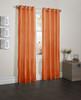 "Sherry Crushed Satin Window Curtain Panel - 52""x84"" - Orange"
