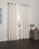 "Sherry Crushed Satin Window Curtain Panel - 52""x84"" - Beige"