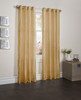 "Sherry Crushed Satin Window Curtain Panel - 52""x84"" - Gold"