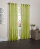 """Sherry Crushed Satin Window Curtain Panel - 52""""x84"""" - Lime"""