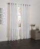 "Sherry Crushed Satin Window Curtain Panel - 52""x84"" - White"