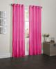 "Sherry Crushed Satin Window Curtain Panel - 52""x84"" - Fuchsia"