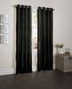 "Sherry Crushed Satin Window Curtain Panel - 52""x84"" - Black"
