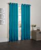 "Sherry Crushed Satin Window Curtain Panel - 52""x84"" - Blue"