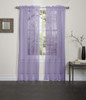 Lisa Sheer Voile Window Curtain Panel - Lilac