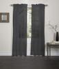 Lisa Sheer Voile Window Curtain Panel - Black