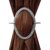 Oval Decorative Curtain Holdbacks Silver