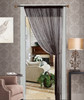 Thread String Curtain Panel, Fringe Panel Blind Room Divider - Black