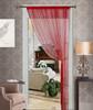 Thread String Curtain Panel, Fringe Panel Blind Room Divider - Ruby