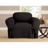 Black Microsuede Slipcover Chair