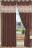 "Bali Faux Silk Curtain Panel 2 Pack, 54""x84"" - chocolate"