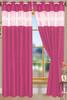 """Bali Faux Silk Curtain Panel 2 Pack, 54""""x84"""" - fuschia"""