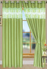 "Bali Faux Silk Curtain Panel 2 Pack, 54""x84"" - olive"