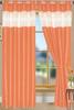 "Bali Faux Silk Curtain Panel 2 Pack, 54""x84"" - orange"