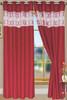 "Bali Faux Silk Curtain Panel 2 Pack, 54""x84"" - ruby"
