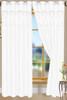 """Bali Faux Silk Curtain Panel 2 Pack, 54""""x84"""" - white"""