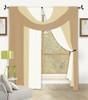 Bella Window in a Bag 4 Pc Curtain Set - Gold