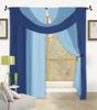 Bella Window in a Bag 4 Pc Curtain Set - Blue