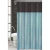 Sequin Taffeta Fabric Shower Curtain, 70x70, Monaco Blue