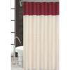 Sequin Taffeta Fabric Shower Curtain, 70x70, Monaco Burgundy
