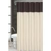 Sequin Taffeta Fabric Shower Curtain, 70x70, Monaco Chocolate