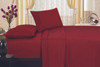 1800 Series Plaza Home Embroidery Vine Sheet Set - Burgundy