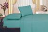 1800 Series Plaza Home Embroidery Vine Sheet Set - Aqua