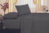 1800 Series Plaza Home Embroidery Vine Sheet Set - Gray
