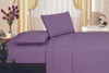1800 Series Plaza Home Embroidery Vine Sheet Set - Purple