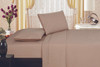 1800 Series Plaza Home Embroidery Vine Sheet Set - Taupe
