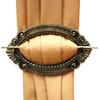 Set Of 2 Decorative Curtain Holdbacks Window Curtain Tiebacks, Oval Palace, Gold