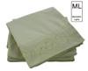 Manhattan Lights Brushed Microfiber Embroidered 4 Piece Sheet Set, Fitted Sheet, Flat Sheet, Pillowcases - Green