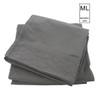 Manhattan Lights Brushed Microfiber Embroidered 4 Piece Sheet Set, Fitted Sheet, Flat Sheet, Pillowcases - Gray