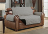 Reversible Quilted Microfiber Pet Dog Couch Sofa Furniture Protector Cover With Strap