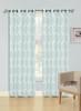 Jacquard Wave Grommet Window Curtain Panel, Quinn, 54x90, 1 Panel - Blue